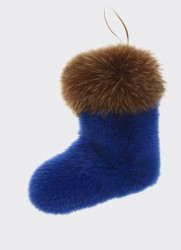 CHRISTMAS BOOT (ELECTRIC BLUE-BEIGE)
