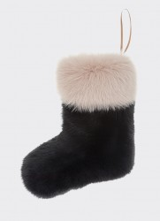CHRISTMAS BOOT (BLACK-PASTEL BROWN)