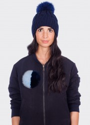 CRYSTAL BUTTON (LIGHT BLUE & NAVY)